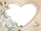 Heart Wedding Flower Transparent Frame