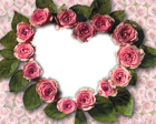 Hearts Of Roses Transparent Frame