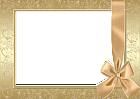 Large Gold Transparent Frame With Gold Bow