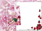 Large Transparent Frame Roses and Angel