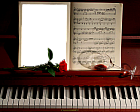 Photo Frame With Piano