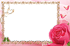 Pink Transparent Frame with Rose