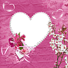 Sweet Pink Transparent Heart Frame