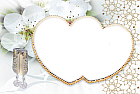 White Hearts Transparent Frame
